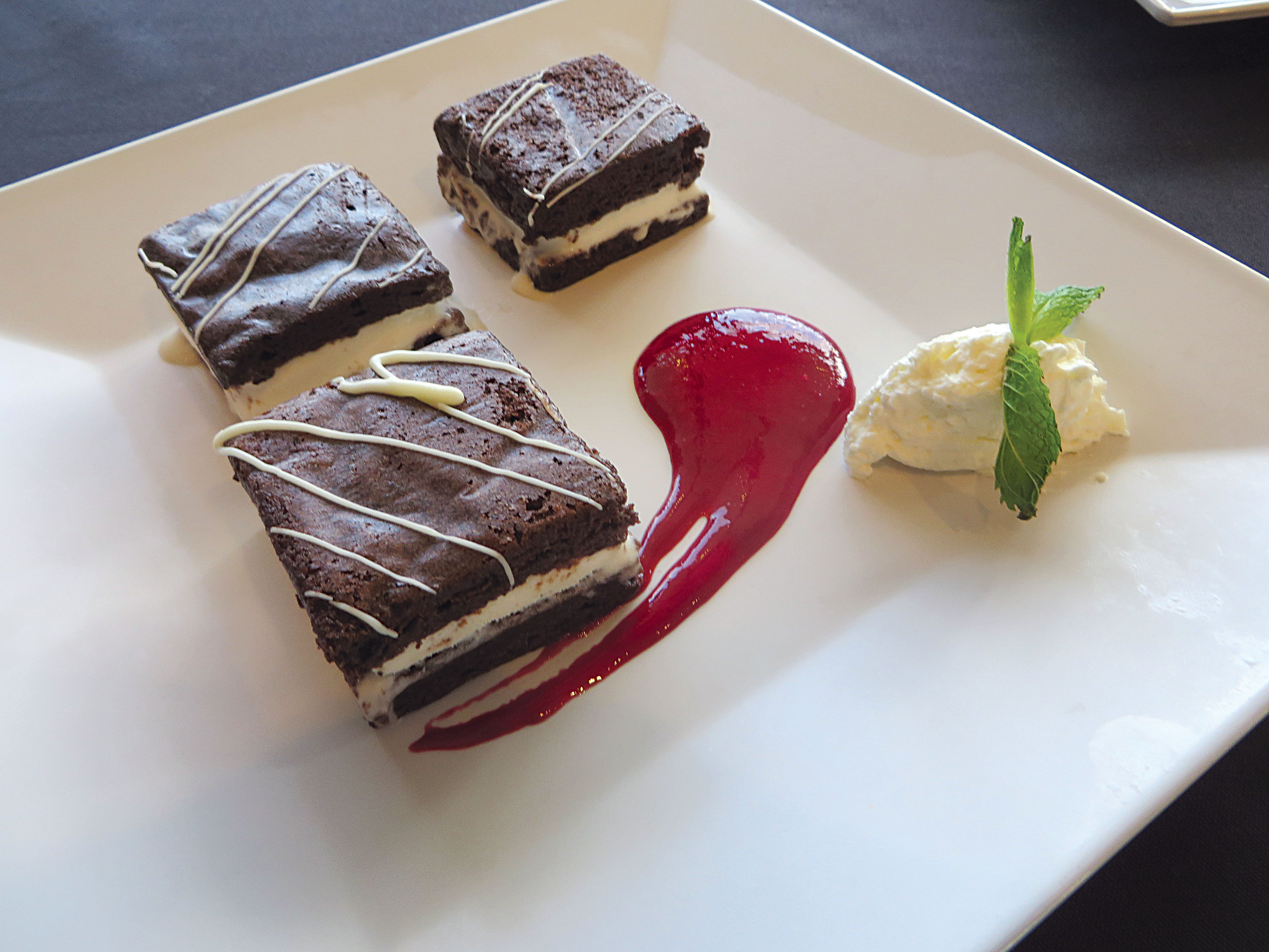 Brownie Squares Desert at Seaside Bar and Grill