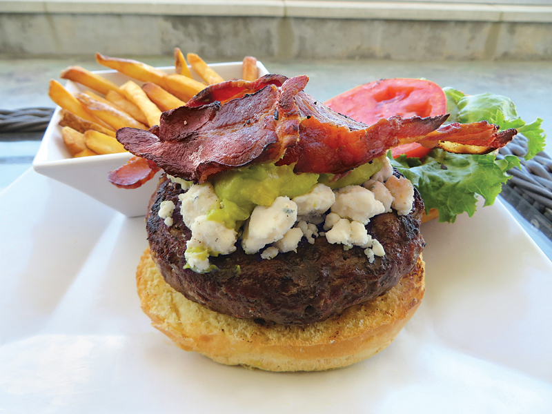 Cobb Burger at Seaside Bar and Grill