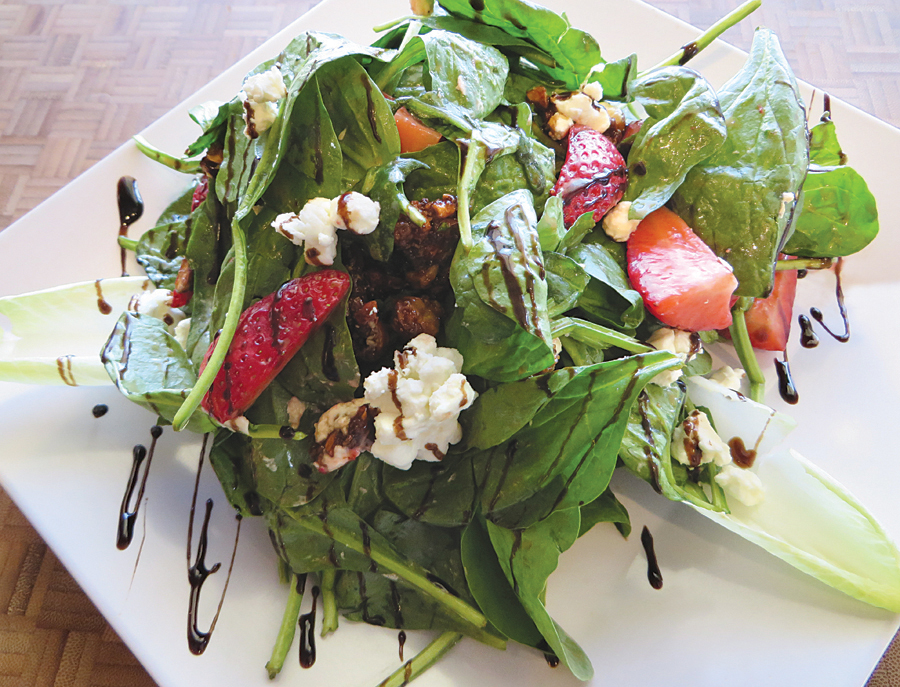 North Fork Spinach Salad at Seaside Bar and Grill